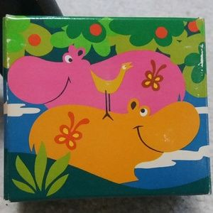 Vintage Avon Happy Hippo Soap and Nail Brush Set